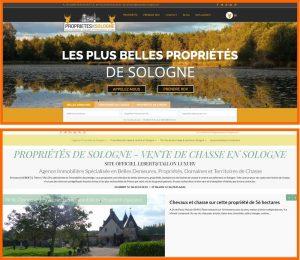 refonte site web Propriétés de Sologne - Digital Hipster