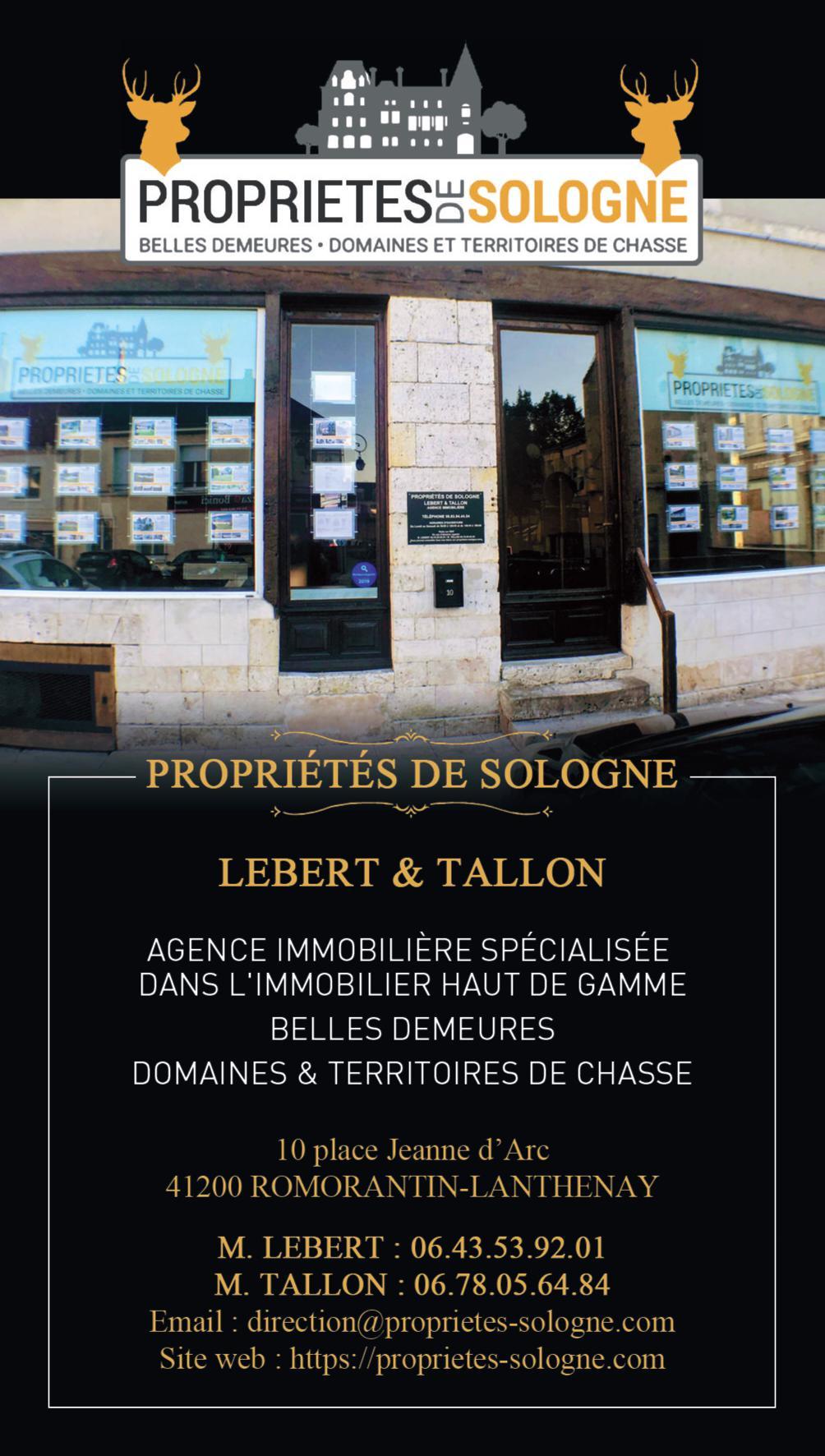 Agence immobilière à ROMORANTIN-LANTHENAY - propriété de sologne